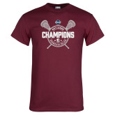 Maroon T Shirt-2018 Mens Lacrosse Champions