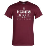 Maroon T Shirt-NEWMAC Mens Soccer Champions
