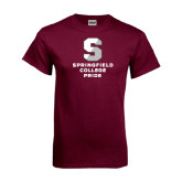 Maroon T Shirt-Springfield College Pride