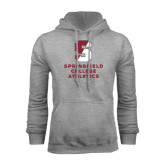 Grey Fleece Hoodie-Springfield College Athletics