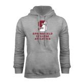 Grey Fleece Hoodie-Springfield College Athletics