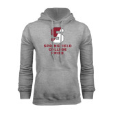 Grey Fleece Hoodie-Springfield College Pride