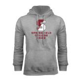 Grey Fleece Hoodie-Springfield College Pride