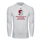 Under Armour White Long Sleeve Tech Tee-Springfield College Athletics