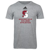 Adidas Sport Grey Logo T Shirt-Springfield College Athletics