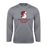 Performance Steel Longsleeve Shirt-Springfield College Pride