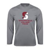 Syntrel Performance Steel Longsleeve Shirt-Springfield College Pride