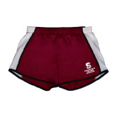 Ladies Maroon/White Team Short-Springfield College Athletics