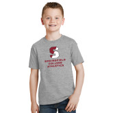 Youth Grey T-Shirt-Springfield College Athletics