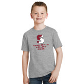 Youth Grey T-Shirt-Springfield College Pride