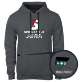 Contemporary Sofspun Charcoal Heather Hoodie-Springfield College Athletics