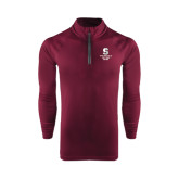 Under Armour Maroon Tech 1/4 Zip Performance Shirt-Springfield College Pride