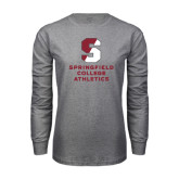 Grey Long Sleeve T Shirt-Springfield College Athletics