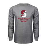 Grey Long Sleeve T Shirt-Springfield College Pride