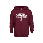Youth Maroon Fleece Hoodie-D3 Mens Volleyball National Champions