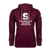 Adidas Climawarm Maroon Team Issue Hoodie-Springfield College Athletics