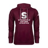 Adidas Climawarm Maroon Team Issue Hoodie-Springfield College Athletics
