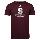 Adidas Climalite Maroon Ultimate Performance Tee-Official Logo