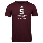 Adidas Climalite Maroon Ultimate Performance Tee-Springfield College Athletics