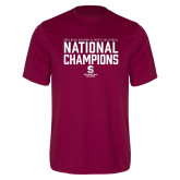 Performance Maroon Tee-D3 Mens Volleyball National Champions