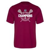 Performance Maroon Tee-2018 Mens Lacrosse Champions