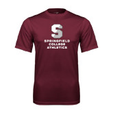 Performance Maroon Tee-Springfield College Athletics