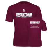 Performance Maroon Tee-Wrestling - 1000 Dual Victories