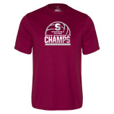 Performance Maroon Tee-NCAA III Mens Volleyball Champs
