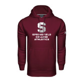 Under Armour Maroon Performance Sweats Team Hoodie-Springfield College Athletics