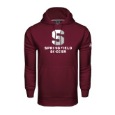 Under Armour Maroon Performance Sweats Team Hoodie-Soccer