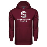 Under Armour Maroon Performance Sweats Team Hoodie-Tennis