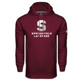 Under Armour Maroon Performance Sweats Team Hoodie-Lacrosse