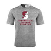 Performance Grey Heather Contender Tee-Springfield College Athletics