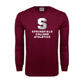 Maroon Long Sleeve T Shirt-Springfield College Athletics
