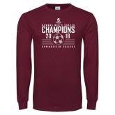 Maroon Long Sleeve T Shirt-NEWMAC Mens Soccer Champions