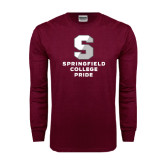 Maroon Long Sleeve T Shirt-Springfield College Pride