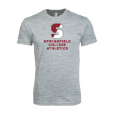 Next Level SoftStyle Heather Grey T Shirt-Springfield College Athletics