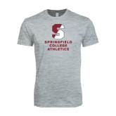 Next Level SoftStyle Heather Grey T Shirt-Springfield College Athletics