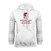 White Fleece Hoodie-Springfield College Athletics