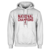 White Fleece Hoodie-D3 Mens Volleyball National Champions