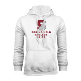 White Fleece Hoodie-Springfield College Pride