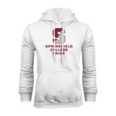 White Fleece Hoodie-Springfield College Pride