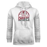 White Fleece Hoodie-NCAA III Mens Volleyball Champs