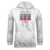 White Fleece Hoodie-NCAA III Mens Volleyball Champs
