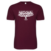 Next Level SoftStyle Maroon T Shirt-D3 Mens Volleyball National Champions