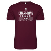Next Level SoftStyle Maroon T Shirt-NEWMAC Mens Soccer Champions