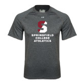 Under Armour Carbon Heather Tech Tee-Springfield College Athletics