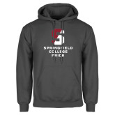 Charcoal Fleece Hoodie-Springfield College Pride