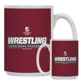 Full Color White Mug 15oz-Wrestling - 1000 Dual Victories