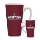 Full Color Latte Mug 17oz-Wrestling - 1000 Dual Victories